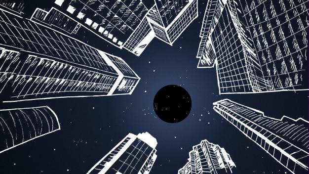 mixkit-view-of-a-night-sky-in-the-city-139-desktop-wallpaper